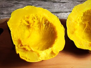 acorn squash cooked without seeds