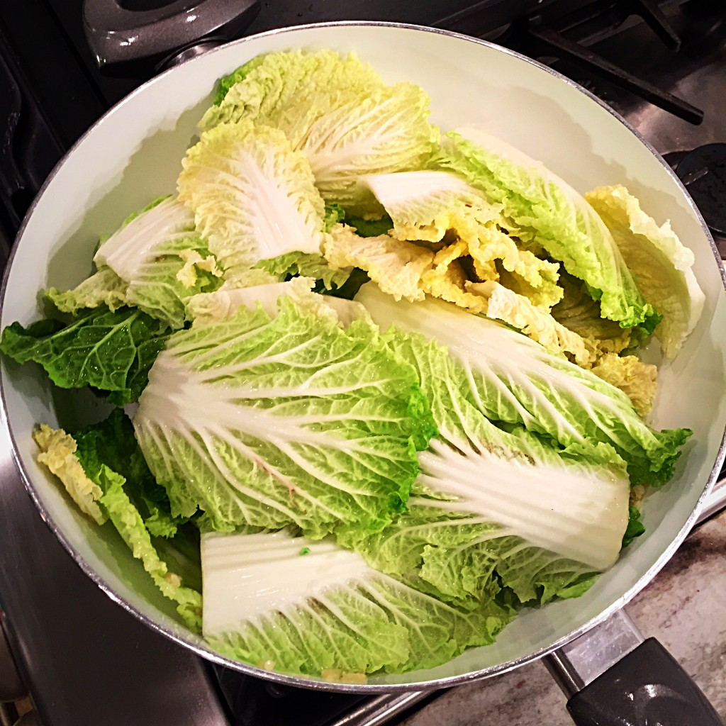 Chinese cabbage cooking