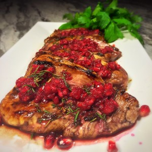pomegranate lemon chicken
