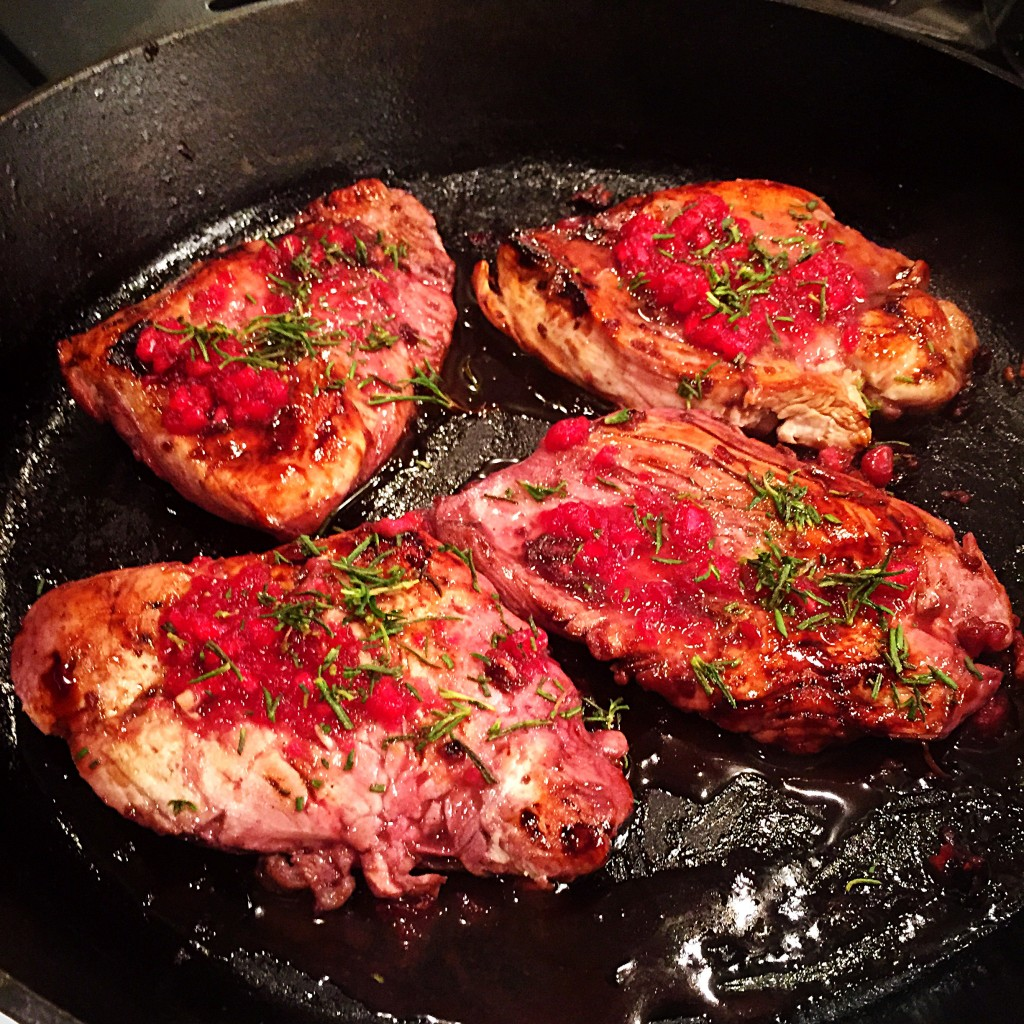 pomegranate lemon chicken cooking