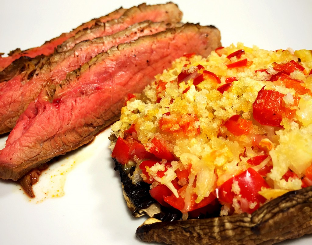 coffee rubbed smoked paprika flank steak